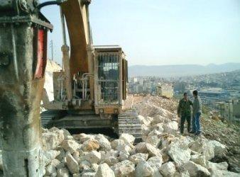 Rammer G-130 Abbruchhammer Einsatz in Griechenland