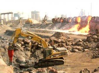 Rammer G-130 Demolition Hammer-Einsatz im Stahlwerk Duisburg